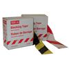 Afzetlint Super 500mx80 mm geel/zwart moeilijk afscheurbaar