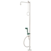 F/St&Ing Body Shower C/W H/Held Eyeshower C/W 2 Spry Heads 45°