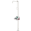 Freestanding Body Shower With Eye/Facewash Unit With Bowl