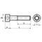Din912 Cilinderkopschroef Binnenzeskant Staal 10.9  M5X70Mm
