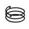 Vacuum support ring or spiral in stainless handle for compensator types  50/55