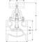 Absperrventil Fig. 1270 Bronze Flansch