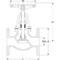 Klepafsluiter fig. 1272 zinkarm brons flens