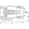 Terugstroombeveiliging fig. 1440 type RV280 messing binnendraad BSP