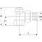 """Radiatorvoetventiel fig. 1564 brons/EPDM haaks aftapbaar vulbaar 3/8"""""""