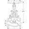 Absperrventil Fig. 18279PK Edelstahl Flansch