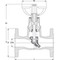 Rayon heating valve fig. 2432 cast iron flange