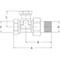 Radiatorvoetventiel fig. 2455 messing staartstuk/binnendraad