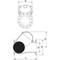 Balkeerklep fig. 2630 nodulair gietijzer/NBR zinkende bal PN16 DN100 flens PN10