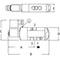 Stuurventiel drieweg fig 33500 serie 551 aluminium binnendraad