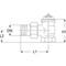 Elektrische motor voor regelklep fig. 3474 steekbaar