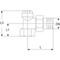 Radiatorvoetventiel fig. 3554 messing haaks staartstuk/binnendraad