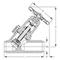 Balgafsluiter fig. 157 staal vrijstroom stomplas