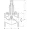 Overstortventiel fig. 523 brons flens
