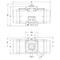 """Pneumatische aandrijving fig. 79611 serie FS150 aluminium maat topflens F07/F10 afmeting vierkant 19mm 1/4""""BSP"""