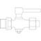 Plugkraan fig. 92 brons soldeereind buitendraad