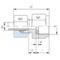 Manometer koppeling MAV12SR1/4-M+D (zonder moer en snijring) RVS-316TI