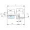 Manometer koppeling MAVE08LR1/2 RVS-316TI