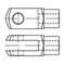 DIN71752 Stelgaffel zonder verende pen type ES staal elektrolytisch verzinkt