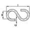 S-hook steel zinc electro-plated