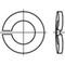 DIN128A Gewelfde veerring Roestvaststaal (RVS) A2