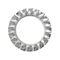DIN6798A Vlakke tandveerring met gesloten buitenvertanding Roestvaststaal (RVS) A2